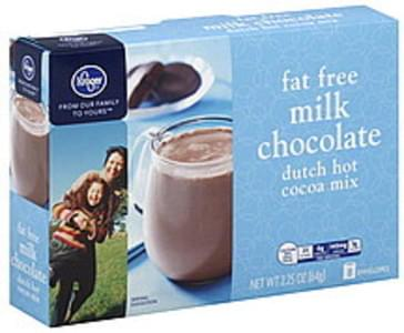 Kroger Hot Cocoa Mix Dutch, Fat Free, Milk Chocolate