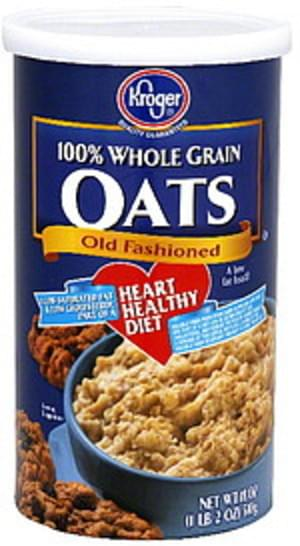 Kroger 100% Whole Grain Old Fashioned Oats - 18 oz