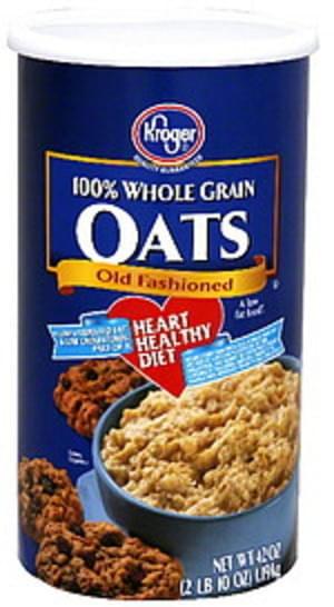 Kroger 100% Whole Grain Old Fashioned Oats - 42 oz