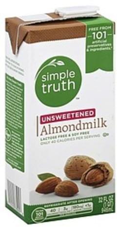 Simple Truth Almondmilk Unsweetened