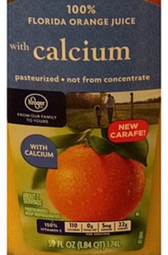 Kroger 100% Florida Orange Juice with Calcium - 240 ml