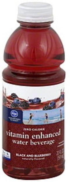 Kroger Water Beverage Vitamin Enhanced, Black and Blueberry
