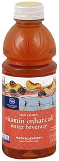 Kroger Water Beverage Vitamin Enhanced, Peach Blackberry