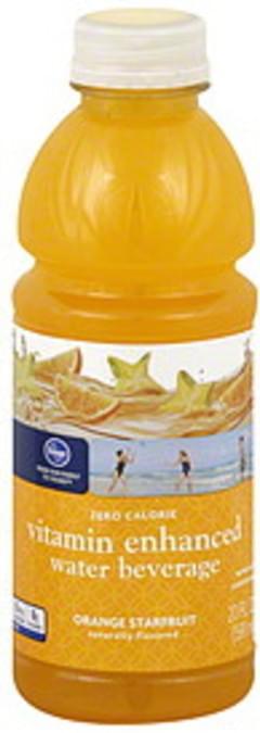 Kroger Water Beverage Vitamin Enhanced, Orange Starfruit