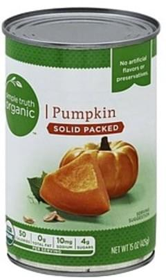 Simple Truth Organic Pumpkin Solid Packed