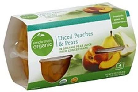 Simple Truth Organic Peaches & Pears Diced, 4 Pack