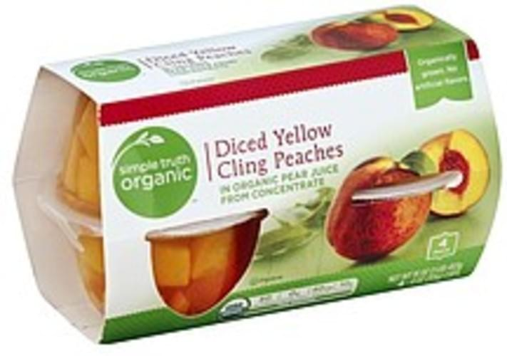 Simple Truth Organic Yellow Cling, Diced Peaches - 4 ea