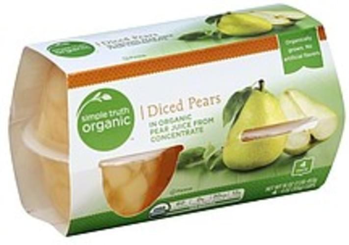 Simple Truth Organic Diced Pears - 4 ea
