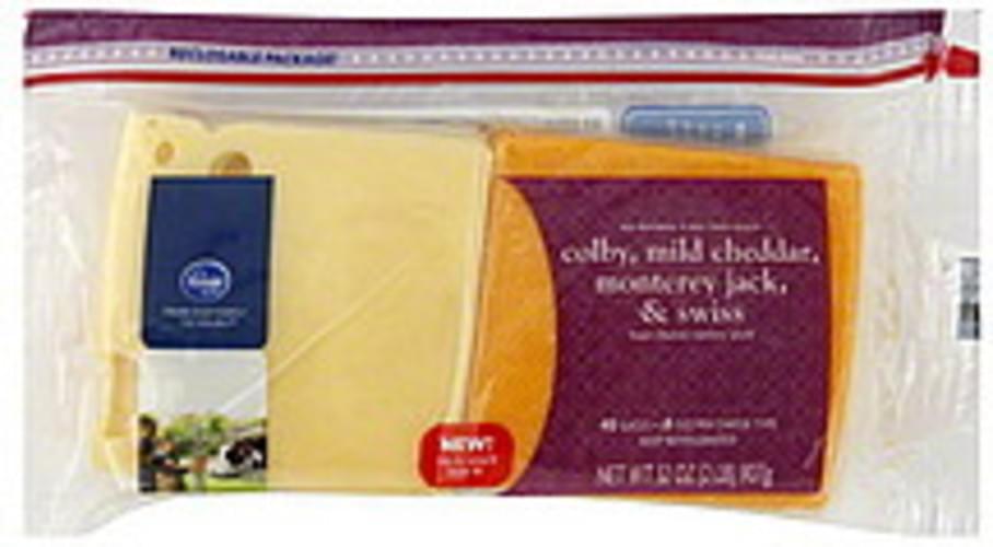 Kroger Deli Thin Slices, Four Cheese