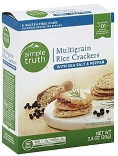 Simple Truth Rice Crackers Multigrain, with Sea Salt & Pepper