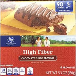 Kroger High Fiber Chocolate Fudge Brownie