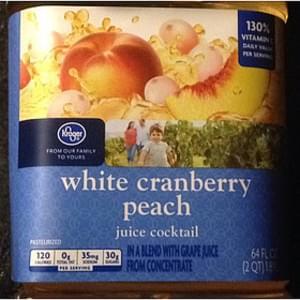 Kroger White Cranberry Peach Juice Cocktail