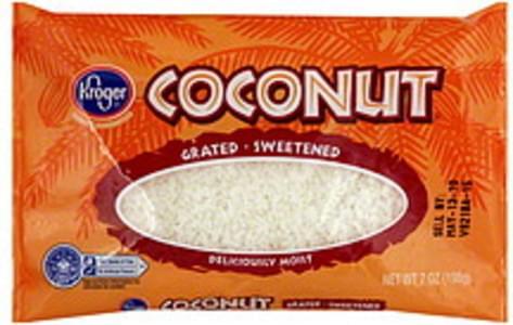 Kroger Coconut Grated, Sweetened