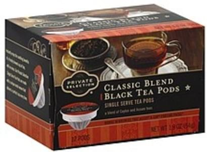 Private Selection Black Tea Classic Blend, Single Serve Pods