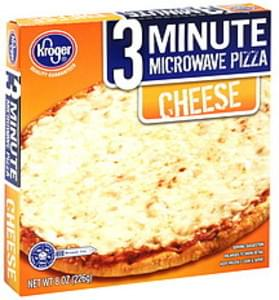 Kroger Pizza 3 Minute Microwave, Cheese