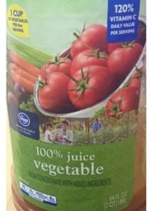 Kroger 100% Vegetable Juice