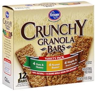Kroger Granola Bars Crunchy, Variety Pack