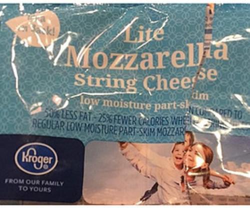 Kroger Lite Mozzarella String Cheese - 24 g