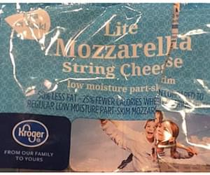 Kroger Lite Mozzarella String Cheese