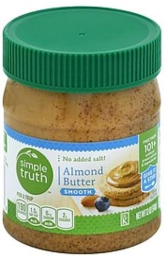 Simple Truth Organic Smooth Almond Butter - 12 oz