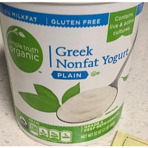 Simple Truth Organic Plain Greek Nonfat Yogurt - 227 g