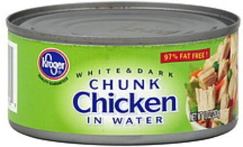 Kroger Chunk Chicken in Water, White & Dark