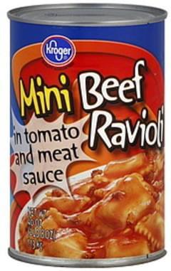 Kroger Ravioli Beef, Mini