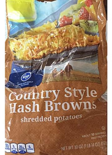 Kroger Country style Hash Browns - 85 g