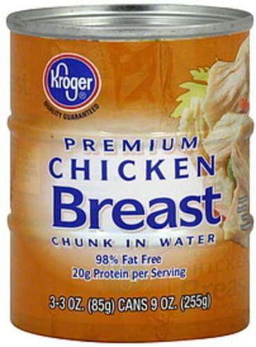 Kroger Premium, Chunk in Water Chicken Breast - 3 ea