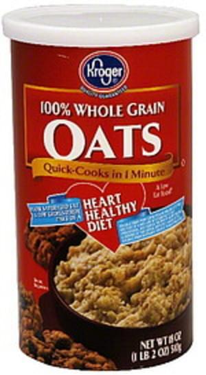 Kroger 100% Whole Grain Oats - 18 oz