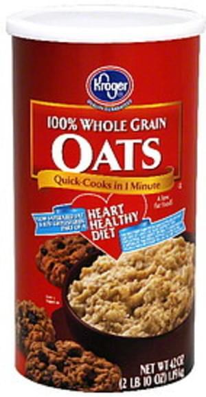 Kroger 100% Whole Grain Oats - 42 oz