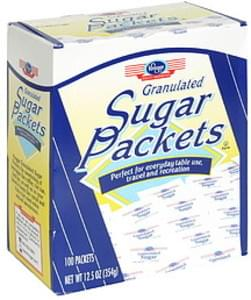 Kroger Sugar Packets Granulated