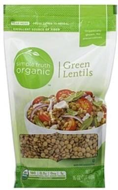 Simple Truth Organic Lentils Green