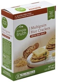 Simple Truth Rice Crackers Multigrains, with Sea Salt
