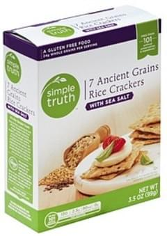 Simple Truth Rice Crackers 7 Ancient Grains, with Sea Salt