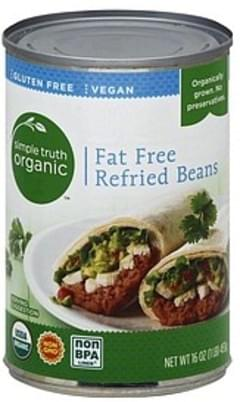 Simple Truth Organic Refried Beans Fat Free