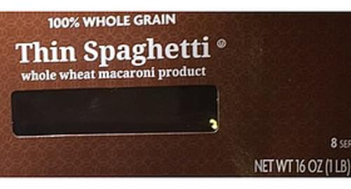 Kroger Whole Wheat Macaroni Product Thin Spaghetti - 56 g
