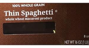 Kroger Thin Spaghetti Whole Wheat Macaroni Product