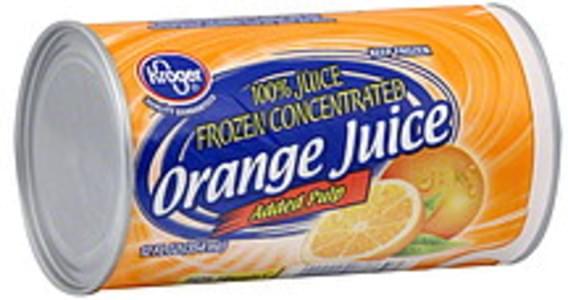 Kroger 100% Juice Orange, Added Pulp, Frozen Concentrated