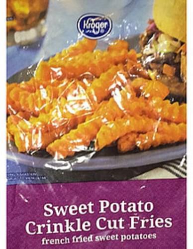 Kroger Sweet Potato Crinkle Cut Fries - 85 g, Nutrition Information
