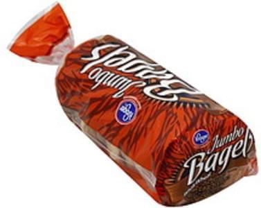 Kroger Bagels Jumbo, Whole Wheat