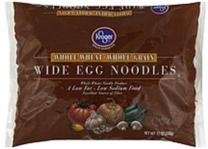 Kroger Egg Noodles Whole Wheat, Wide