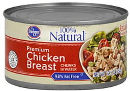 Kroger Chicken Breast Chunks in Water, Premium