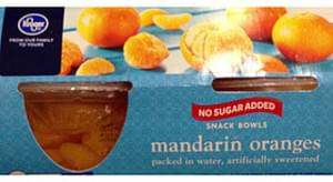 Kroger No Sugar Added Snack Bowls Mandarin Oranges