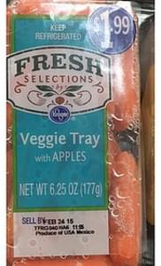 Fresh Selections by Kroger Veggie Tray with Apples