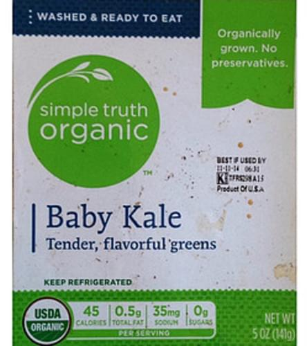 Simple Truth Organic Baby Kale - 85 g