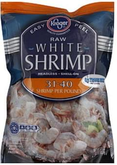 Kroger Shrimp White, Raw, Shell-On