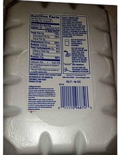 Kroger Fresh Lean Ground Turkey - 112 g