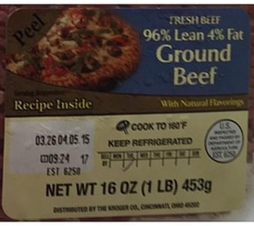 Kroger Ground Beef - 112 g