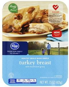 Kroger Turkey Breast with Mushroom Gravy